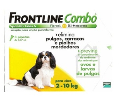 Frontline Combo Cães 2 a 10 Kg 3 Pipetas