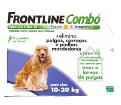 Frontline Combo Cães 10 a 20 kg 3 Pipetas