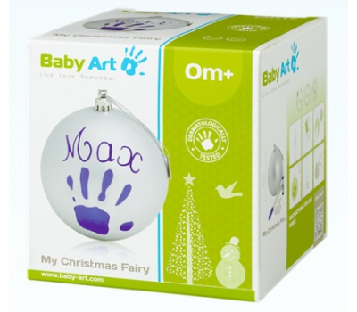 Baby Art Christmas Ball - Prateado